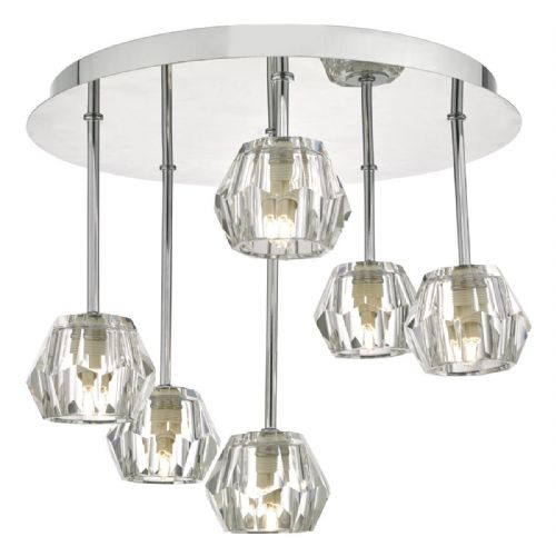 Loshini 6lt Semi Flush Polished Chrome & Glass (double insulated) BXLOS6450-17